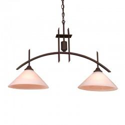 Lámpara de techo, Serie Arcus, armazón metálico en acabado negro, 2 luces, con tulipa