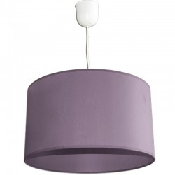 1824 - Lámpara de techo colgante vintage de latón y bola de cristal