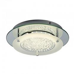 Lámpara de techo plafón LED, Serie Creta, armazón metálico y cristal, iluminación LED integrada, 21W