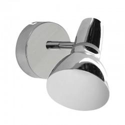Aplique de pared, tipo foco, Serie Jilga, armazón metálico en acabado cromo, 1 luz orientable.