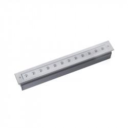 Empotrable LED de suelo para iluminar jardines y terrazas fabricado en acero inoxidable 316 y cristal