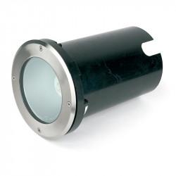 Empotrable LED de suelo, Serie Tecno-I, para iluminar jardines y terrazas fabricado en acero inoxidable 316 y cristal
