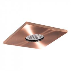 Aro empotrable cuadrado, Serie NC1855SQ-B, armazón de aluminio en acabado cobre