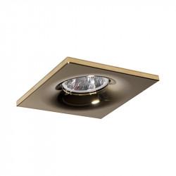 Aro empotrable cuadrado, Serie NC1761SQ, armazón de aluminio en acabado oro