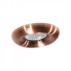 Aro empotrable redondon, Serie NC1897, armazón de aluminio en acabado cobre, 1 luz GU10, Ø 88 mm. Corte Ø 70 mm.