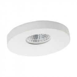 Aro empotrable redondo, Serie NC1772R, armazón de aluminio en acabado blanco, 1 luz GU10, Ø 98 mm. Corte Ø 70 mm.