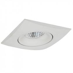 Aro empotrable cuadrado, Serie NC1781SQ, armazón de aluminio en acabado blanco, 1 luz GU10 orientable