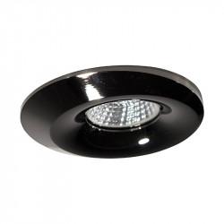 Aro empotrable redondo, Serie NC1777, armazón de aluminio en acabado negro grafito, 1 luz GU10, Ø 96 mm. Corte Ø 70 mm.