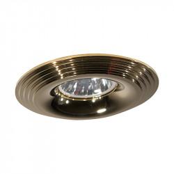 Aro empotrable redondo, Serie NC1760R, armazón de aluminio en acabado oro, 1 luz GU10, Ø 98 mm. Corte Ø 70 mm.