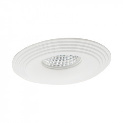 Aro empotrable redondo, Serie NC1760R, armazón de aluminio en acabado blanco, 1 luz GU10, Ø 98 mm. Corte Ø 70 mm.