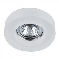 Aro empotrable redondo, Serie SC760R, armazón de cristal en acabado translucido, 1 luz GU10, Ø 100 mm. Corte Ø 65 mm.