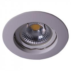 Aro empotrable redondo, Serie NC1301, armazón de aluminio en acabado blanco, 1 luz GU10, Ø 78 mm. Corte Ø 65 mm.