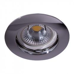 Aro empotrable redondo, Serie NC1301, armazón de aluminio en acabado cromo brillo, 1 luz GU10, Ø 78 mm. Corte Ø 65 mm.