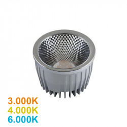 Lámpara bloque LED 20W, 1.465lm, 3.000K, 4.000K o 6.000K, 38º de apertura, sin parpadeo. Compatible con PAR30.
