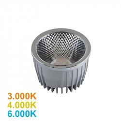 Lámpara bloque LED 20W, 1.465lm, 3.000K, 4.000K o 6.000K, 23º de apertura, sin parpadeo. Compatible con PAR30.