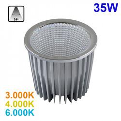 Lámpara bloque LED 35W, 2.465lm, 3.000K, 4.000K o 6.000K, 24º de apertura, sin parpadeo. Compatible con QR111.