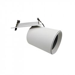 Foco empotrable, Serie NC2156, orientable 360º, armazón de aluminio en acabado blanco texturizado