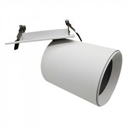 Foco empotrable, Serie NC2156, orientable 360º, armazón de aluminio en acabado blanco texturizado, para bloque 35W