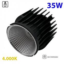Bloque lumínico LED, Serie LD607-35W, armazón de aluminio, 35W 2.940lm 4.000K, 60º de apertura, sin parpadeo.