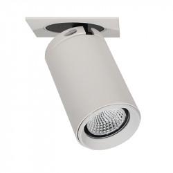 Foco empotrable LED, Serie NC2156, armazón de aluminio en acabado blanco texturizado, 1xGU10, orientable.