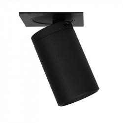 Foco empotrable LED, Serie NC2156, armazón de aluminio en acabado negro texturizado, 1xGU10, orientable.