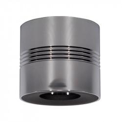 Foco de superficie LED, Serie NC1747, armazón metálico en acabado cromo brillo y negro, 1xGU10.
