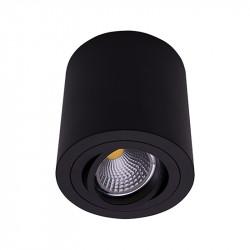 Foco de superficie LED, Serie NC1464-R95-CF, armazón metálico en acabado negro texturizado, 1xGU10. Orientable