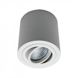Foco de superficie LED, Serie NC1464-R95-CF, armazón metálico en acabado blanco texturizado, 1xGU10. Orientable