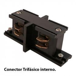 Conector trifásico interno, en acabado negro.