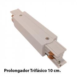 Prolongador Trifásico 10 cm, en acabado blanco.