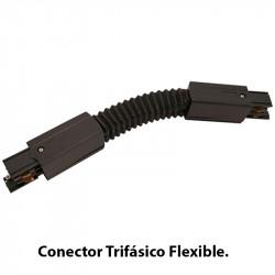 Conector Trifásico Flexible, en acabado negro.