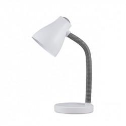 Lámpara flexo infantil, Serie Toddy, armazón acrílico en acabado blanco y gris, 1 luz, brazo flexible.