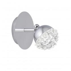 Aplique de pared moderno LED, Serie Stella, armazón metálico en acabado cromo brillo, LED 6W
