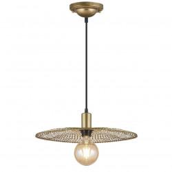 Lámpara de techo colgante moderno, Serie Portals, armazón metálico en acabado oro mate, 1 luz