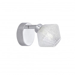 Aplique de pared tipo foco 1 luz, Serie Ozadi, armazón metálico en acabado cromo brillo, cabezal rotatorio