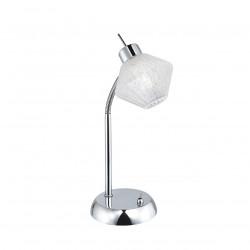 Lámpara de sobremesa moderno, Serie Ozadi, armazón metálico en acabado cromo brillo, 1 luz, brazo flexible