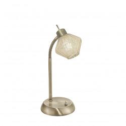 Lámpara de sobremesa moderno, Serie Ozadi, armazón metálico en acabado cuero, 1 luz