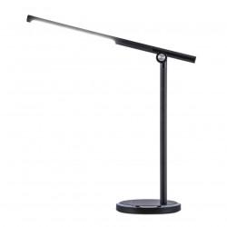 Lámpara flexo moderno LED, Serie Buros, armazón acrílico negro, LED 12W 1200lm 3000-6000K