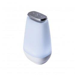Portátil con Altavoz, Serie Sonos, armazón acrílico blanco, LED 10W 660lm 3000-6000K. Con bluetooth batería independiente.