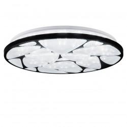 Lámpara de techo plafón moderno LED, Serie Fiume, armazón metálico, LED 50W