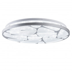 Lámpara de techo plafón moderno LED, Serie Fiume plata, armazón metálico, LED 50W