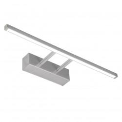 Aplique de pared para baño, Serie Paramo, armazón metálico en acabado níquel satinado, LED 10W