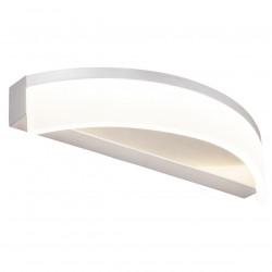 Aplique de pared moderno LED, Serie Amalfi, armazón metálico en acabado níquel satinado, LED 15W 1350lm 3000K.