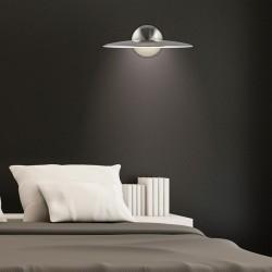 Aplique de pared, Serie Nebu, en acabado níquel satinado, iluminación LED integrada, 10W 1000lm 4000K.
