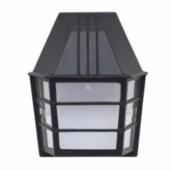 Aplique serie Lavanda de color negro. Este aplique está realizado en metal y cristal.