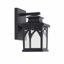 Aplique serie Hiedra de color negro. Está realizado en metal y cristal. Su dimensiones son 27x13,5x18 y su peso neto 1280 g.