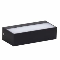 Aplique de exterior, Serie Soutelo, de color gris oscuro. Realizado en policarbonato. Es ideal para exteriores por su IP65.