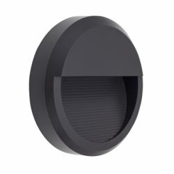 Aplique de exterior, Serie Lordelo, de color gris oscuro. Realizado en metal con un índice de protección IP65.