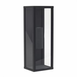 Aplique de exterior, Serie Nozelo, de color gris oscuro. Realizado en metal y cristal con un IP44.