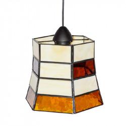 Lámpara de techo colgante, estilo granadino, armazón metálico en acabado negro, 1 luz, con difusor Ø 24 cm